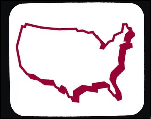 500x396 Clipart United States Map Outline