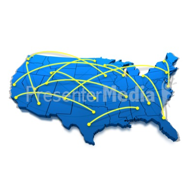 400x400 United States Networking Lines