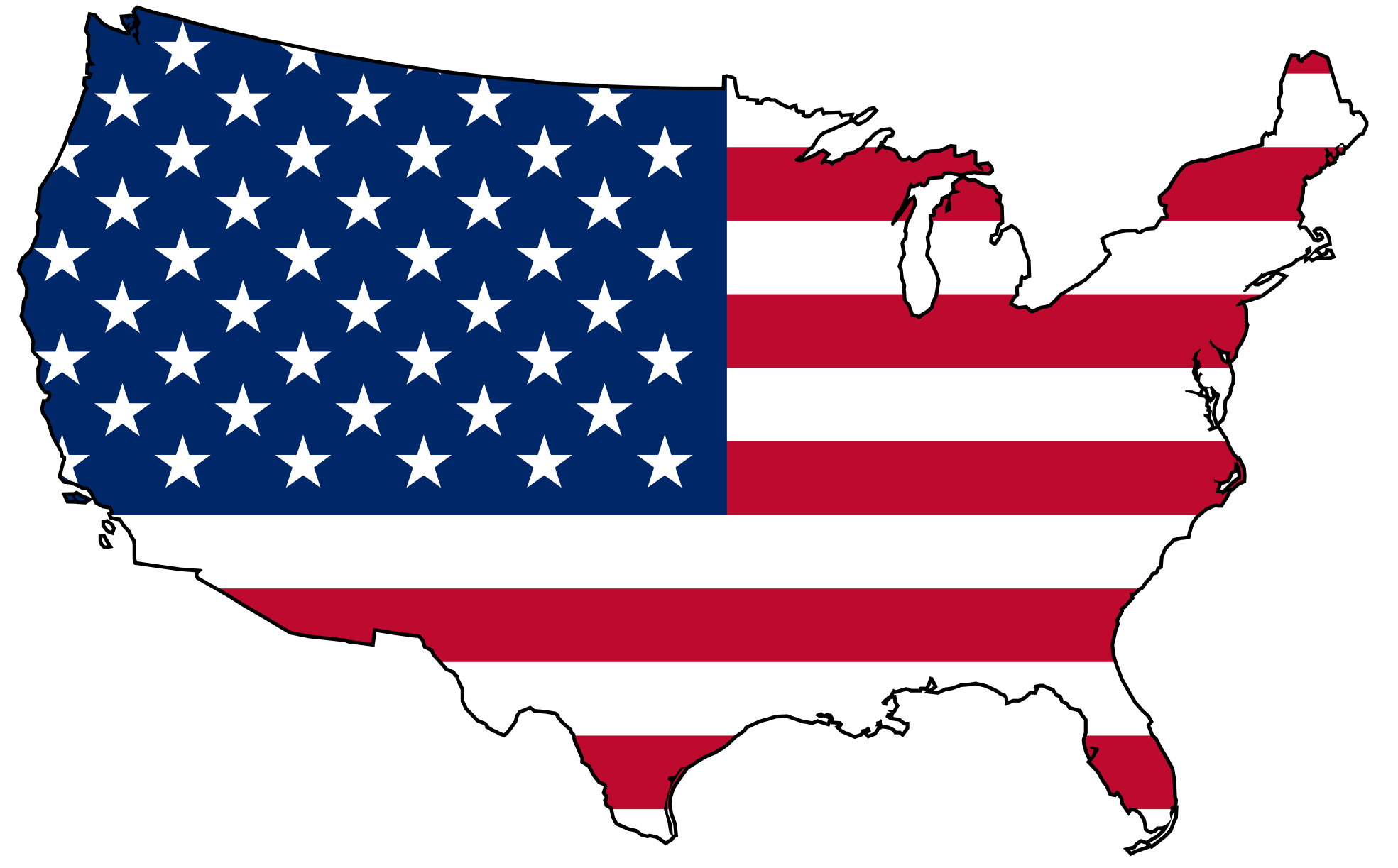 1969x1223 Us Map With States Clip Art Us Map Usa Flag Map Clip Art Dromiae