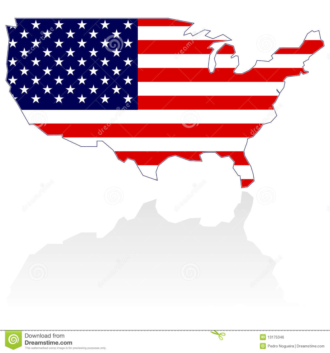 1300x1390 Us Map Flag Clipart