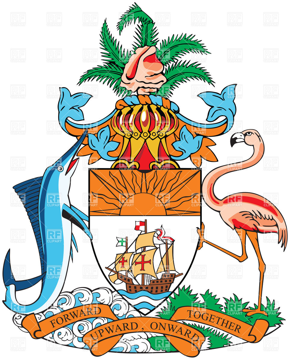 960x1200 Coat Of Arms Of Bahamas Royalty Free Vector Clip Art Image