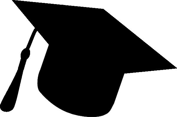 600x398 Graduation Hat Silhouette Black` Clip Art