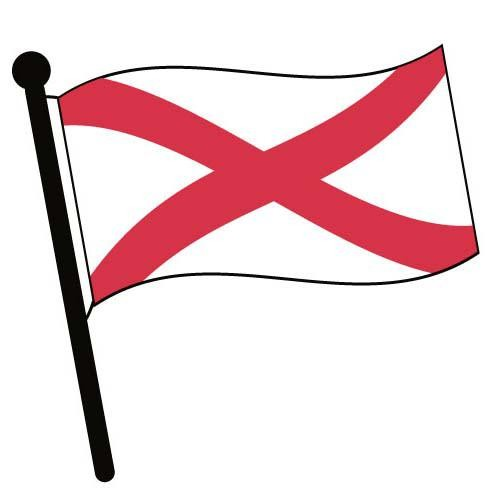 500x500 Clipart Flag Of Alabama