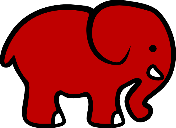 600x436 Alabama Elephant Face Clipart