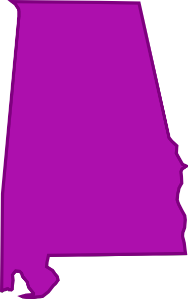 372x592 Alabama Outline Clip Art