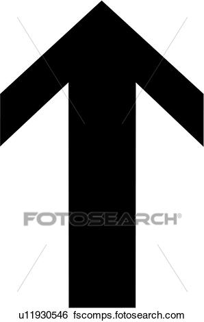 298x470 Clip Art Of , Arrow, Pointing, Up, U11930546