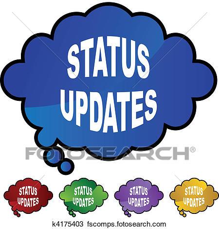 450x470 Clipart Of Status Updates K4175403