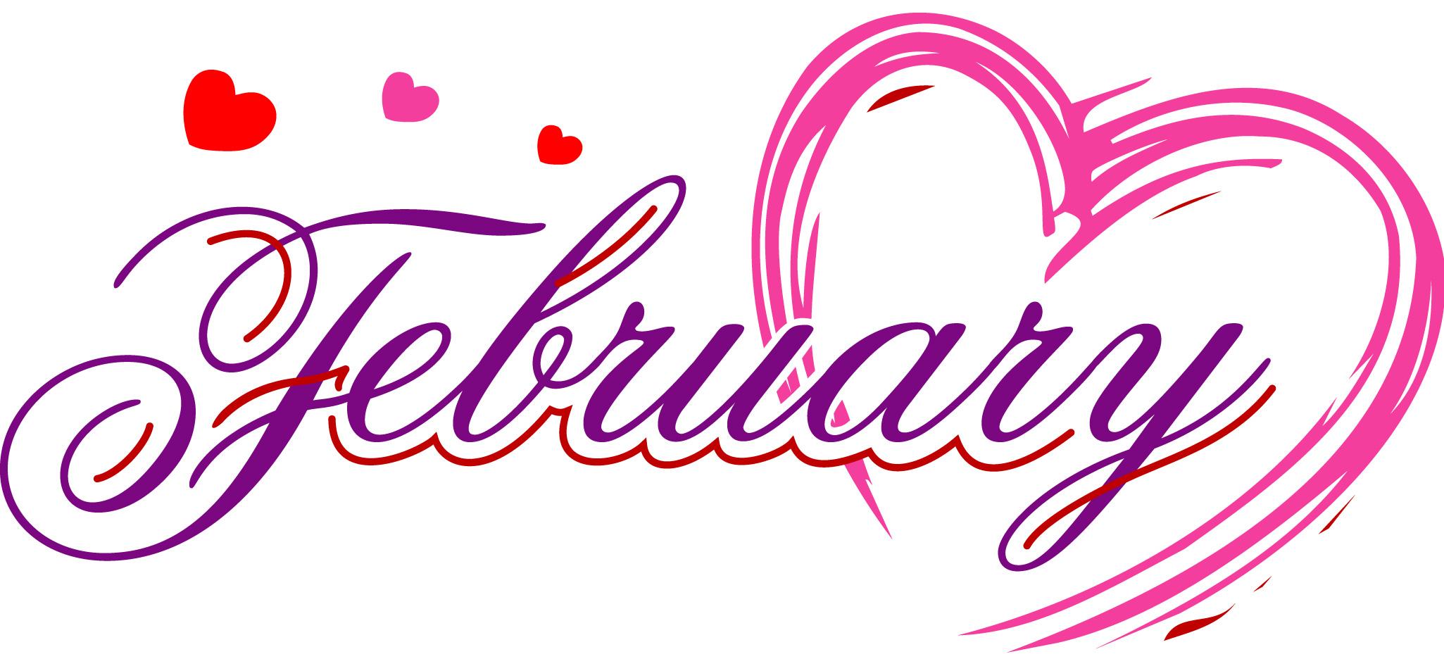 2051x936 February Clipart Art