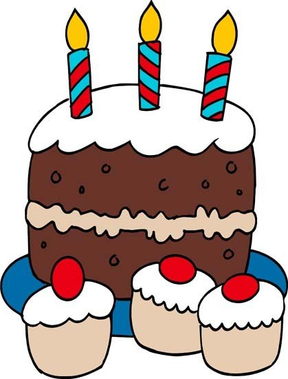 419x550 Birthday Cake Boy Clipart