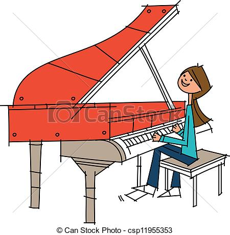 450x461 Piano Clipart Side View