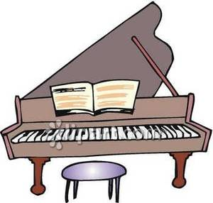 300x286 A Big Piano With Sheet Music Free Clip Art