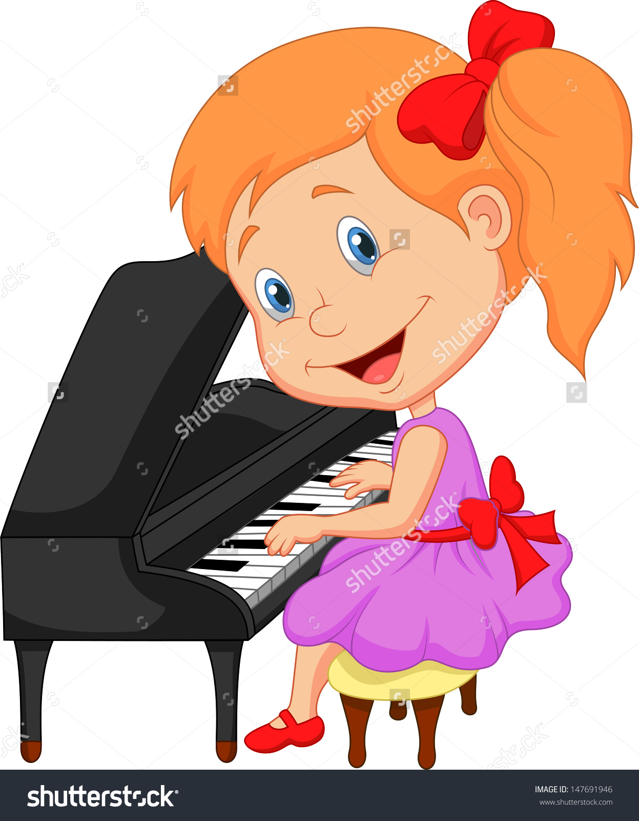 1247x1600 Free Clipart Of Girl Playing Piano