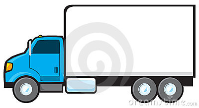 400x218 Cartoon Delivery Truck Clipart