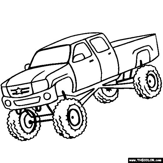560x560 40 Free Printable Truck Coloring Pages Download