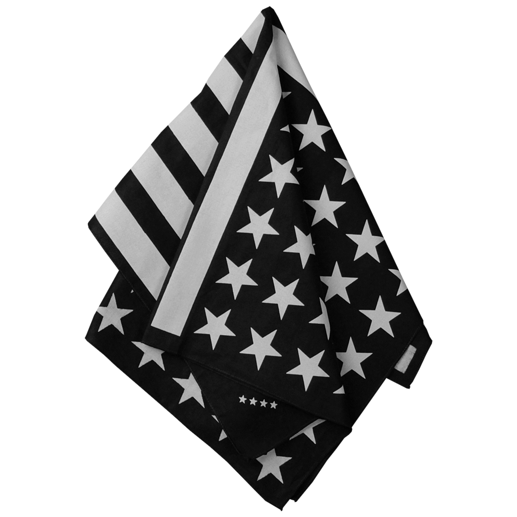 1024x1024 American Flag Bandana (Black And Off White) Try This