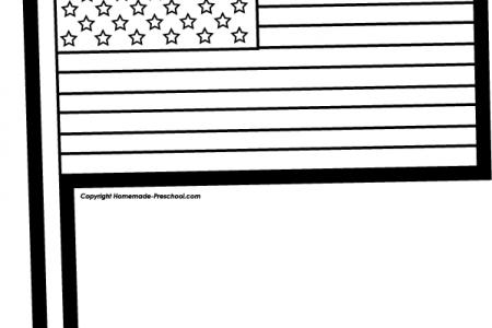 450x300 American Flag Clipart All White