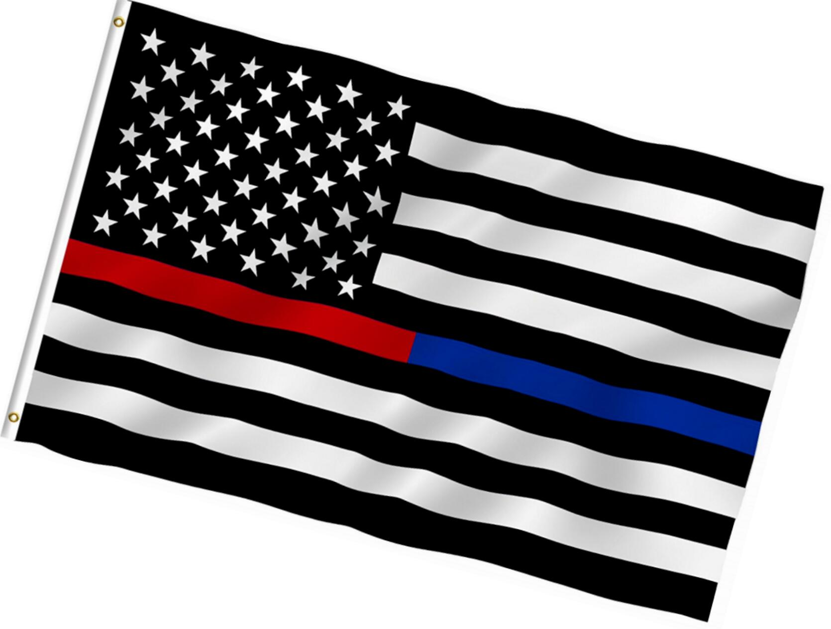 1670x1264 2018 2017 New Thin Blue Line Police American Flag 3 By 5 Foot Flag