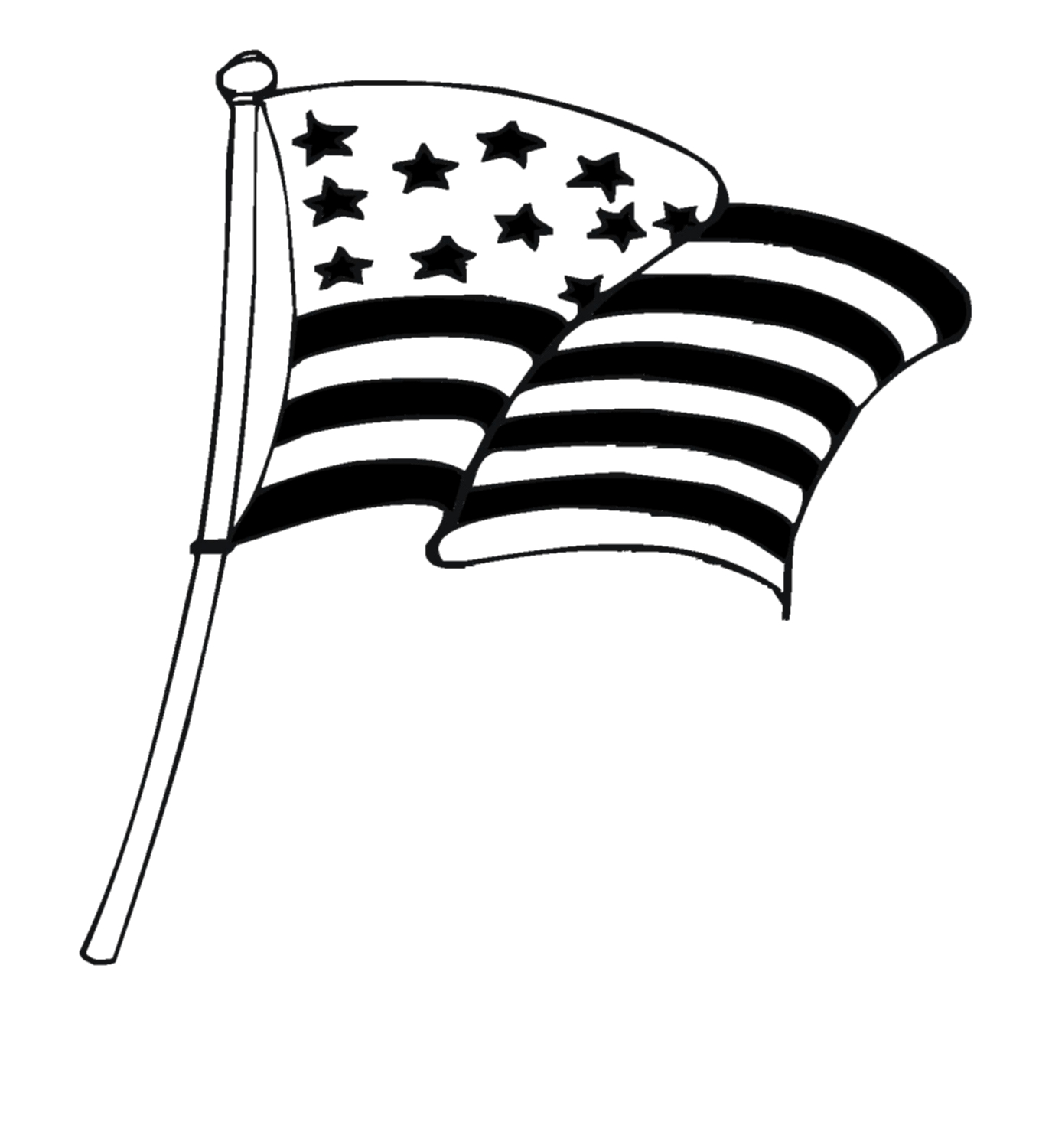 Us Flag Black And White | Free download on ClipArtMag