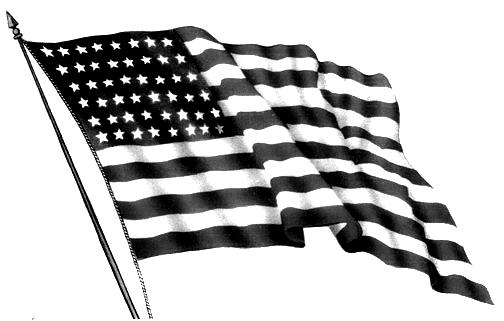 504x321 Black And Silver American Flag 30 Desktop Wallpaper