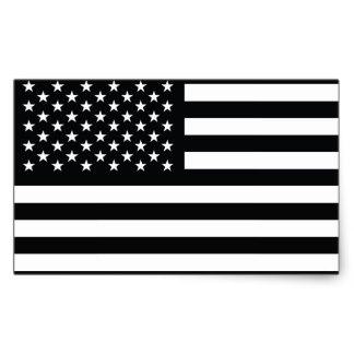 324x324 Black And White American Flag Stickers Zazzle