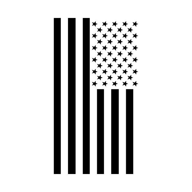 630x630 Black Amp White American Flag