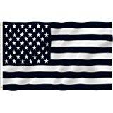 160x160 3'X5' Black And White American Flag, Military, Nascar