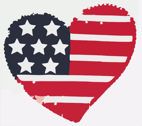 600x533 Flag Heart Clipart