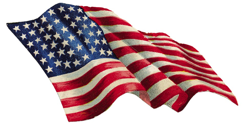 953x493 American Flag Clipart Old