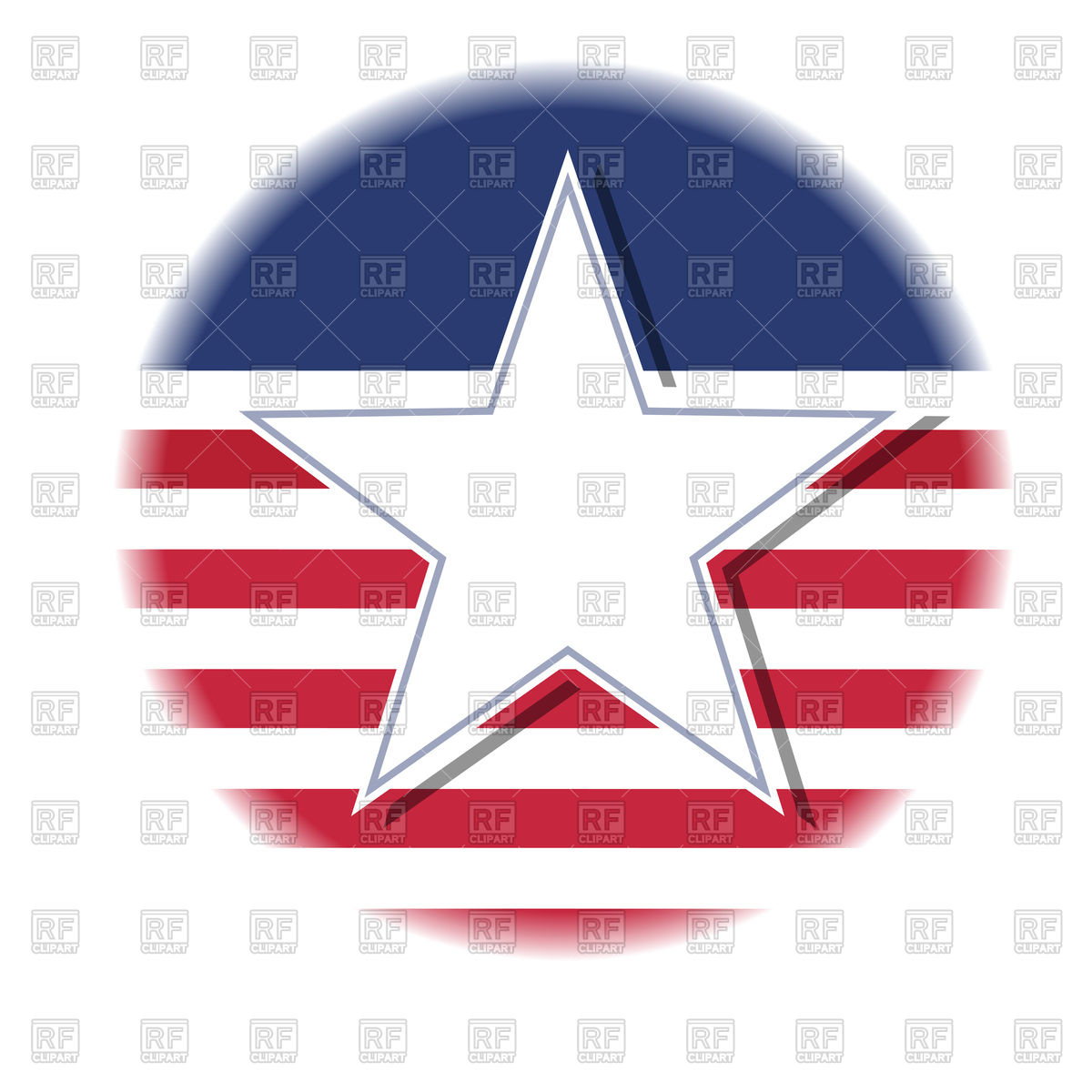 1200x1200 Monochrome Negative Photocopy American Flag Royalty Free Vector