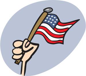 300x265 Us Flag Clipart Image
