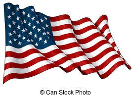 267x194 Waving American Flag Clip Art
