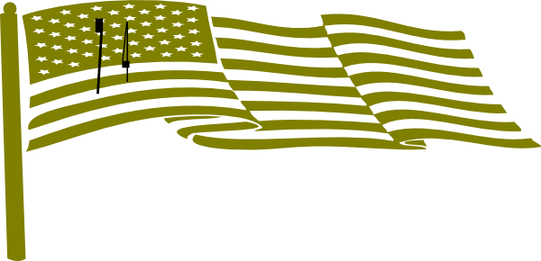 600x290 Waving Us Flag Clip Art