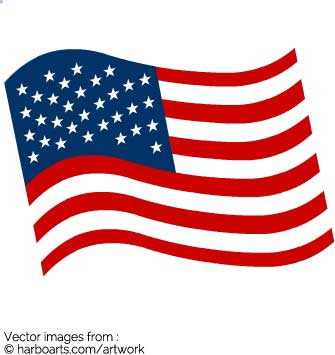 335x355 American Flag Clipart Wave