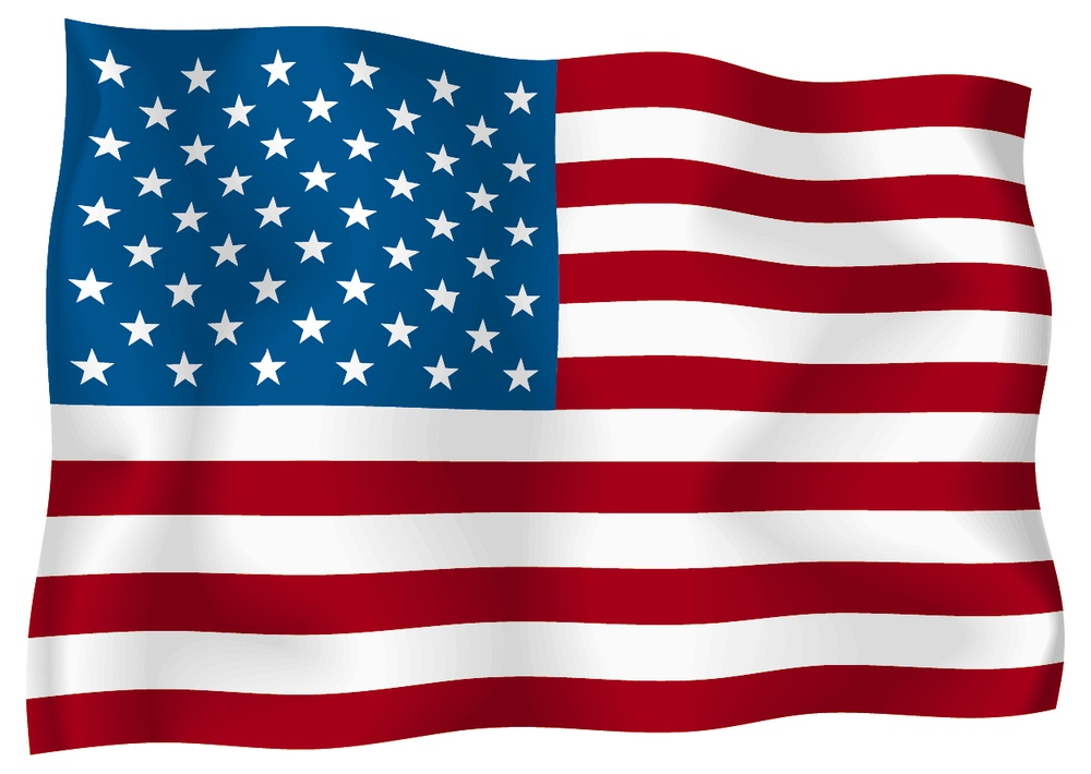1000x710 American Flags Clipart