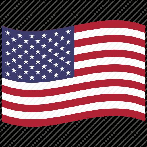 512x512 American Flag, North America, United States, Us, Usa, Waving Icon