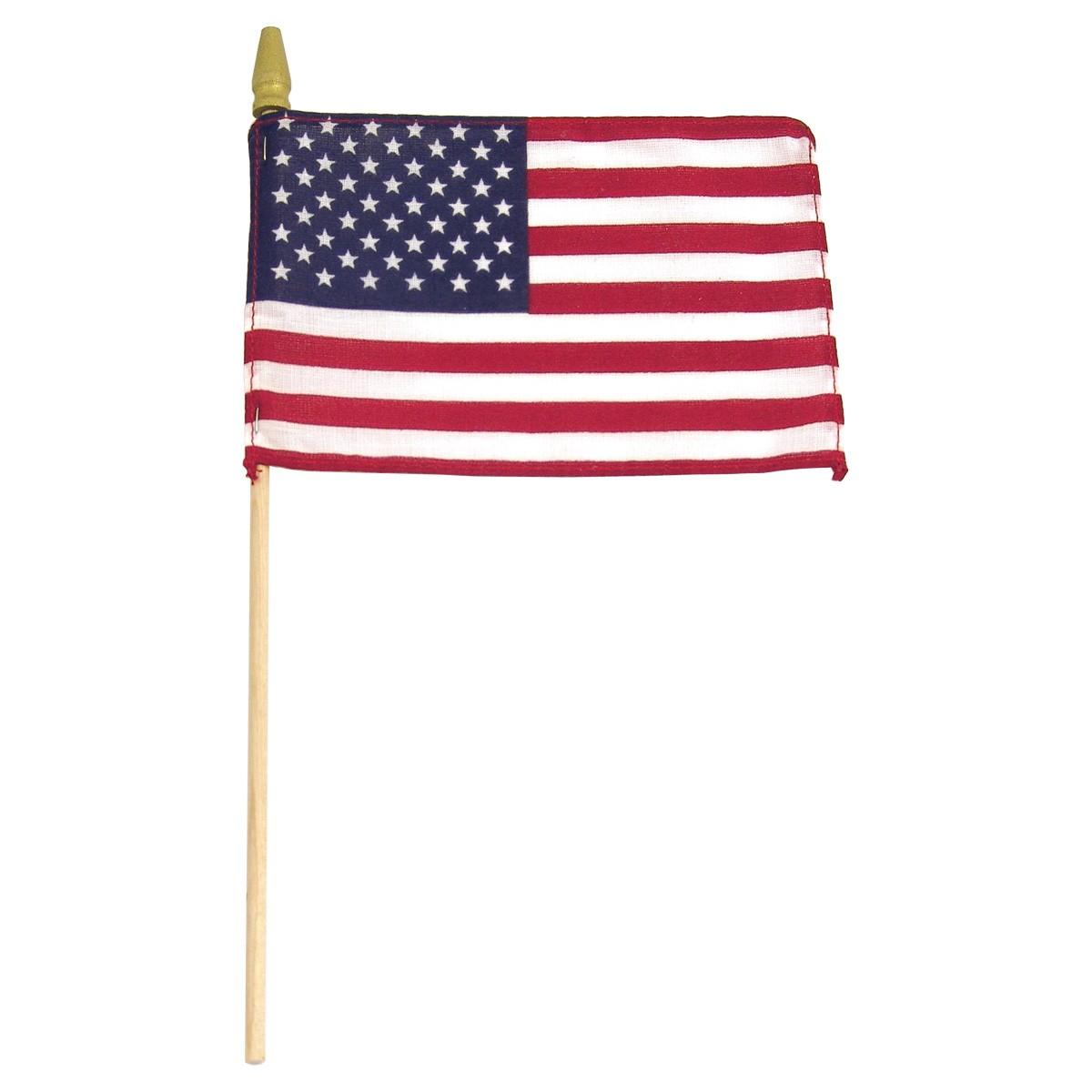 1200x1200 U.s. Stick Flag 8 X 12 W Wood Stick Spear Tip