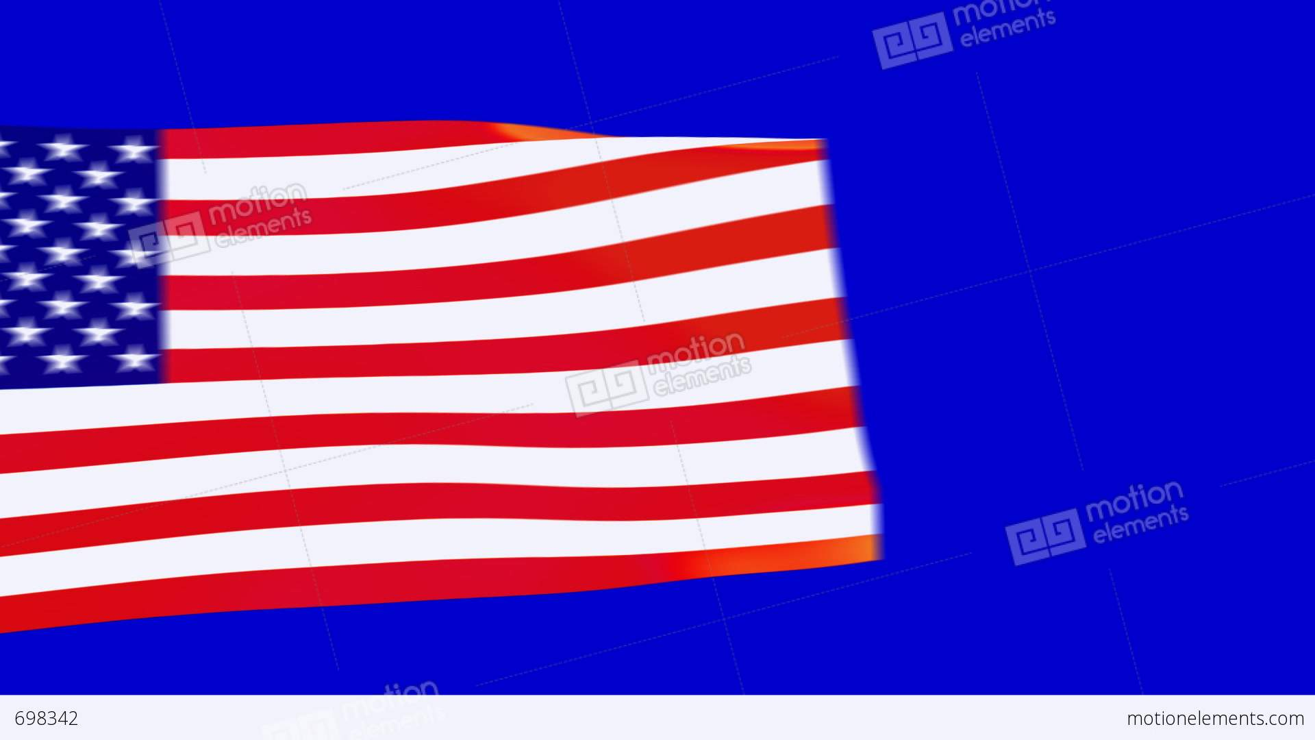 1920x1080 Us Flags Moving Stock Animation 698342