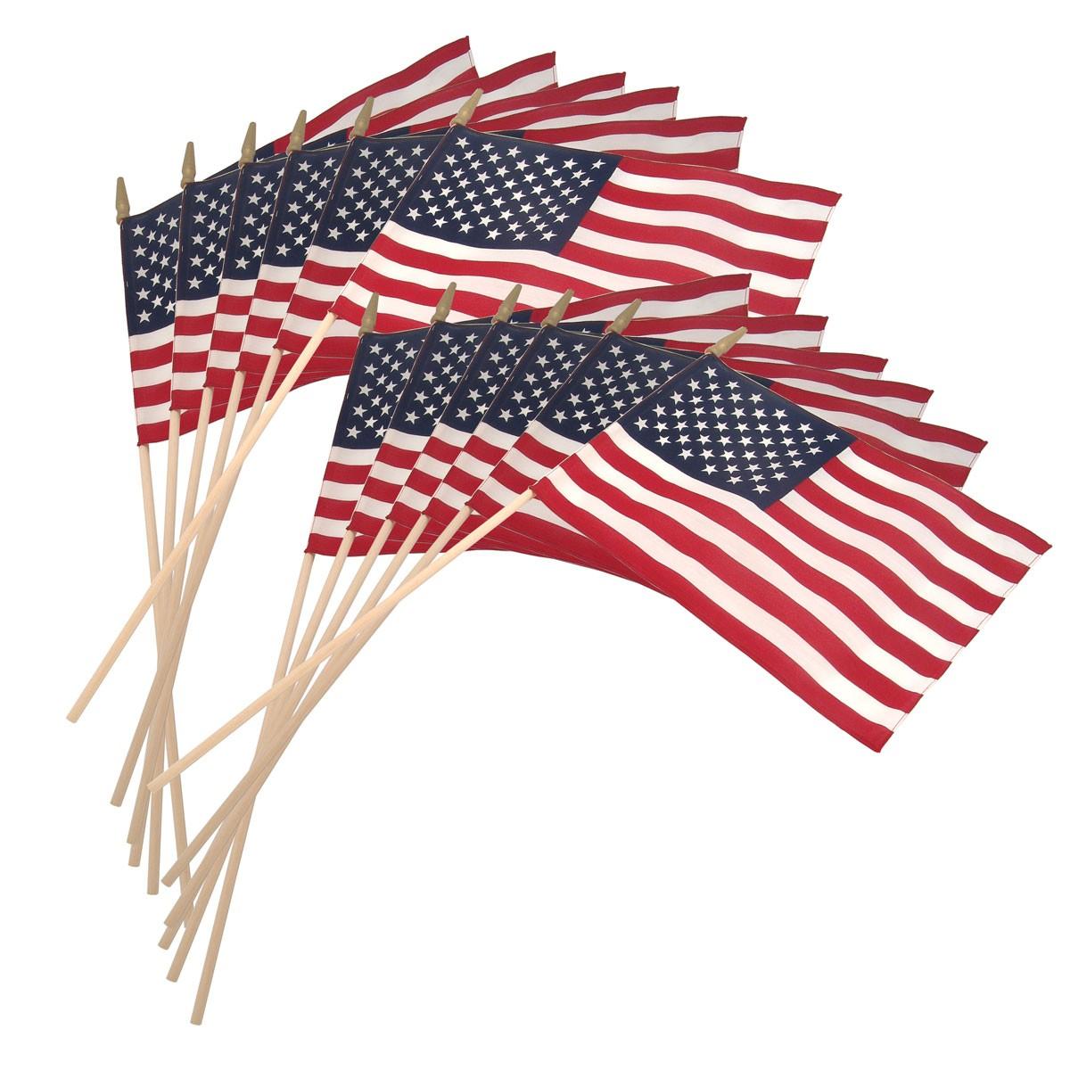 1200x1200 Us Stick Flag 12inx18in 30in X 3 8in Wood Stick