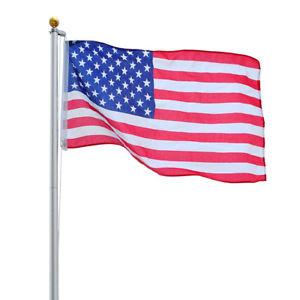 300x300 20ft Sectional Flag Aluminum Pole Kit 3'X5' Us Flag