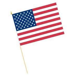 293x293 Cotton Hand Heldstick Us Flags 12. X 18