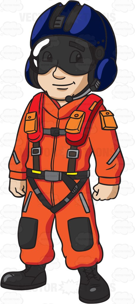 455x1024 A Us Coast Guard Helicopter Pilot Cartoon Clipart