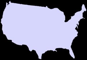 300x207 Grey Map Usa Clip Art