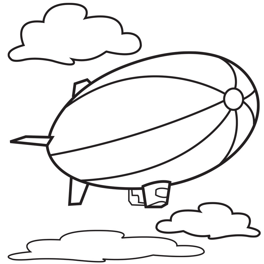 842x842 Hot Air Balloon Outline Many Interesting Cliparts