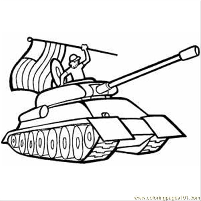 650x650 Soldier In Tank With Usa Flag Coloring Page