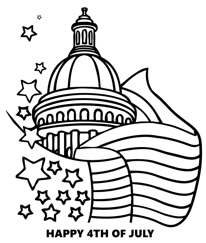 820x968 United States Patriotic Holidays Coloring Pages