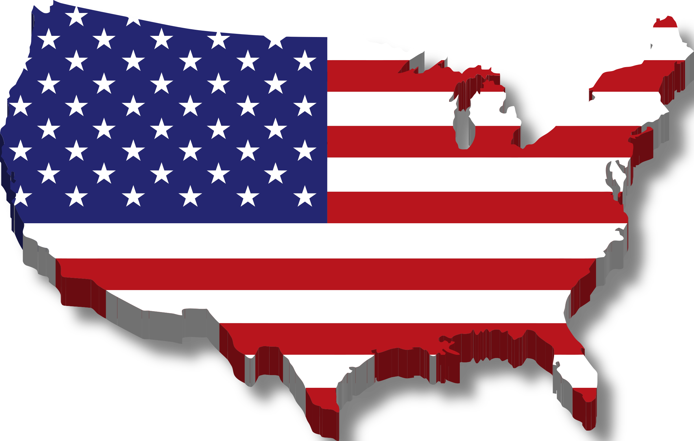Usa Map Clipart