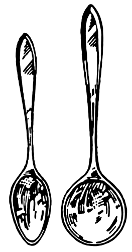 263x500 Spoon And Soup Spoon Clip Art Download