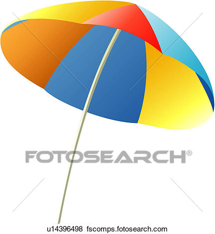 432x470 Clip Art Of Vacation, Traveling, Travel, Beach Parasol, Rest