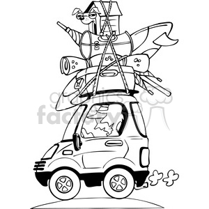300x300 Royalty Free Vacation Travel Clipart Bw 387775 Vector Clip Art