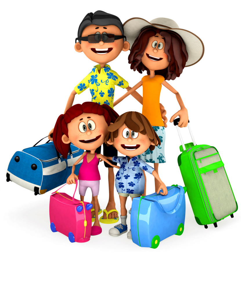 830x971 Travel Vacation Clipart Image